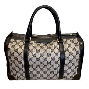 Vintage Gucci Boston Bag Navy Blue Series